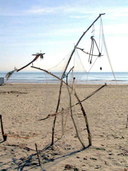 Full View of Land Art on Cervia Beach